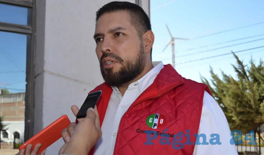 Héctor Bernal Gallegos, líder estatal de la Confederación Nacional de Organizaciones Populares (CNOP)