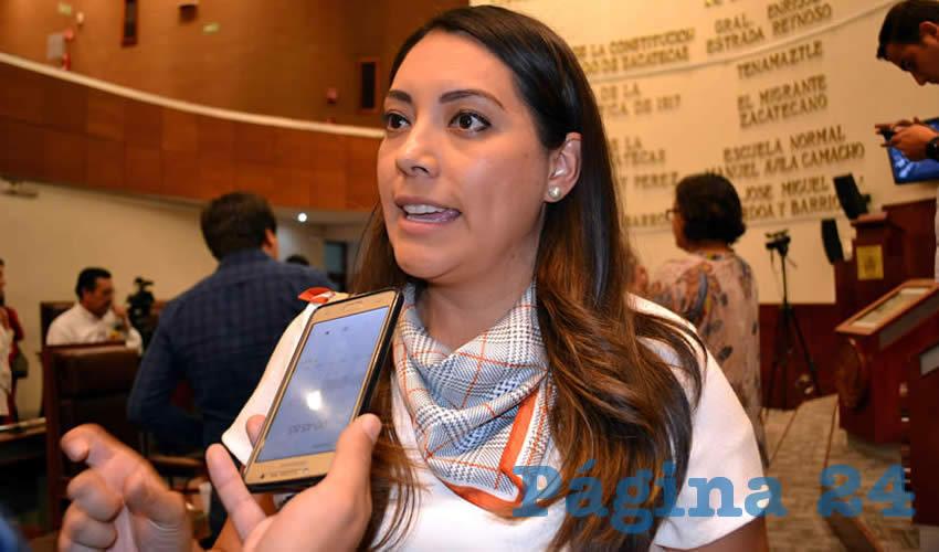 Emma Lisset López Murillo, diputada local por el Partido Acción Nacional (PAN)