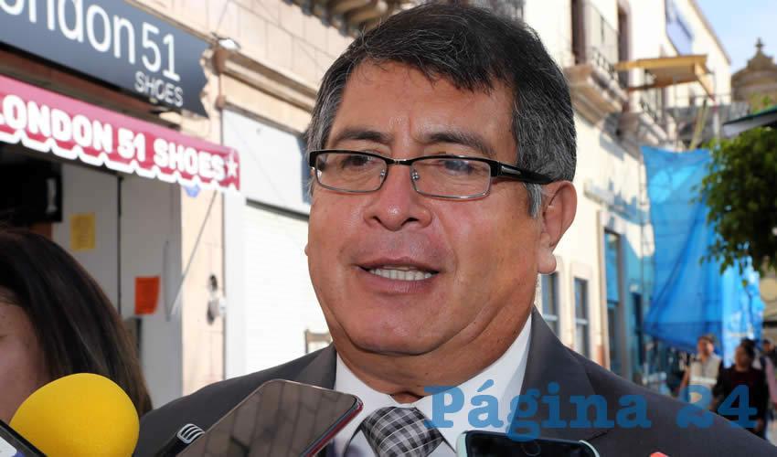 Octavio Jiménez Macías, director de Regulación Sanitaria (Foto: Eddylberto Luévano Santillán)