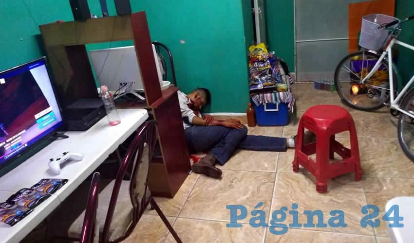 La víctima en el cibercafé