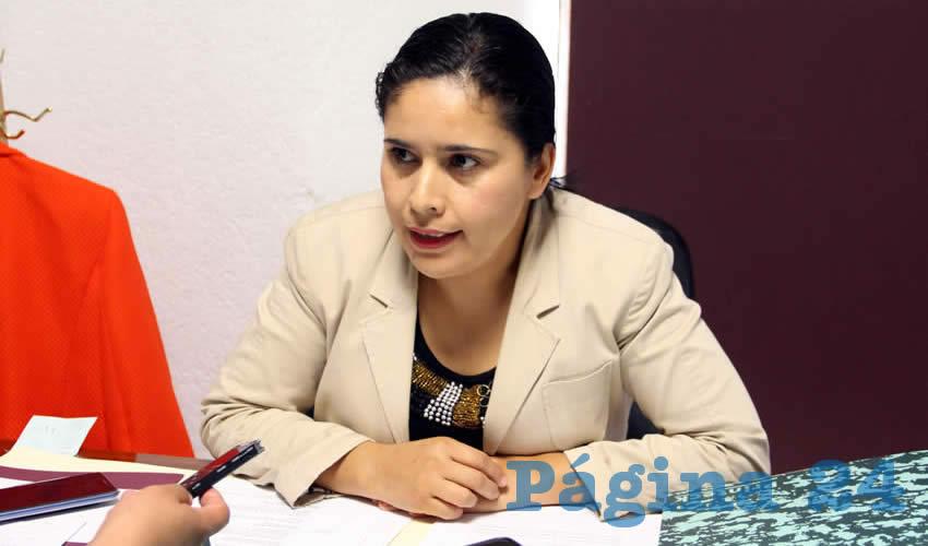 Alma Gloria Dávila Luévano, diputada local por Movimiento Regeneración Nacional (Morena) (Foto Rocío Castro Alvarado)