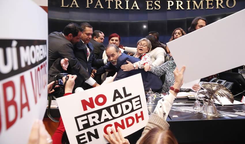 En el Senado Rechazan Repetir Votación Para Elegir a Titular de la CNDH