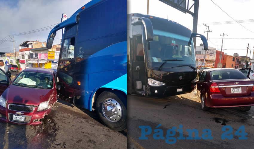Autobús Destroza Auto de Cafre