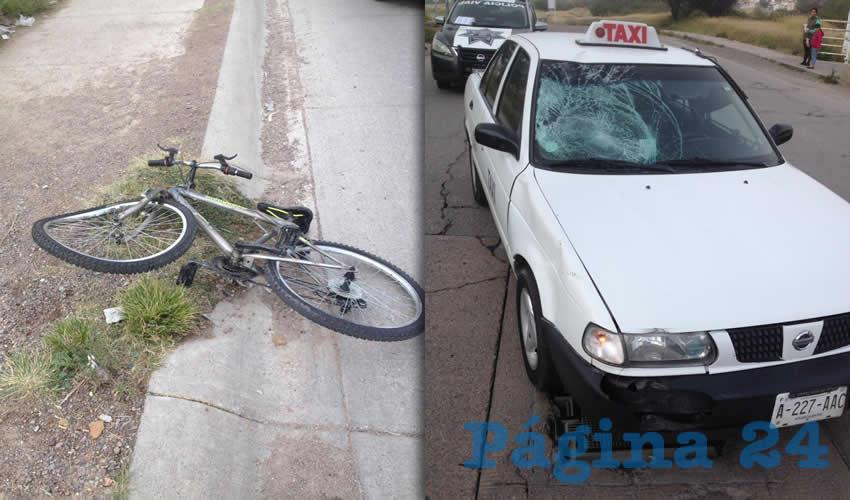 Ciclista se Estrella Contra Auto