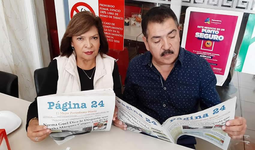En el restaurante Mitla almorzaron María del Rosario de Muñiz y Miguel Muñiz