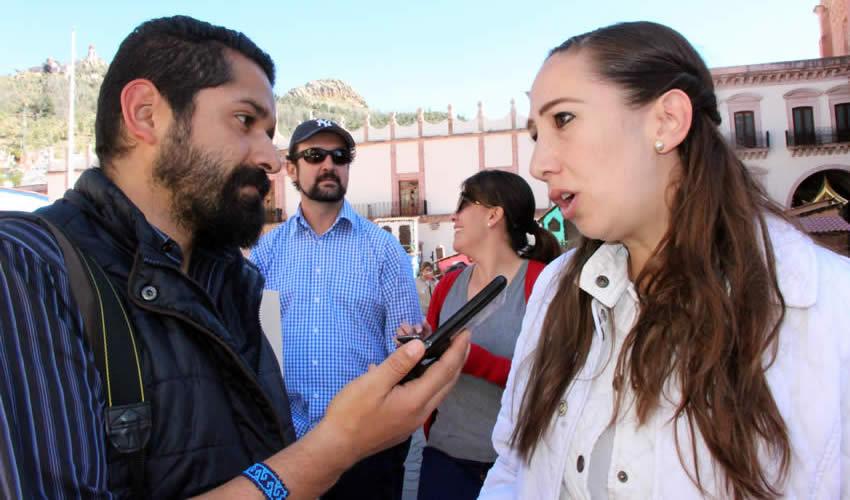 Noemí Luna Ayala, en entrevista (Foto: Rocío Castro Alvarado)