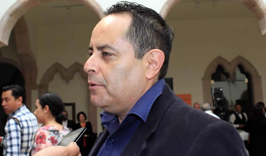 Juan Antonio Caldera Alaniz, coordinador estatal de Protección Civil (Foto Rocío Castro Alvarado)