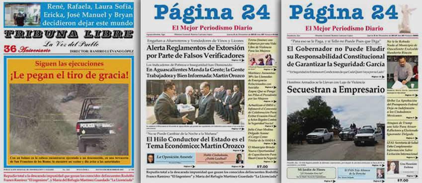 TRIBUNA LIBRE azul ...36 años 36... Página 24 Aguascalientes ...21 años... Página 24 Zacatecas ...19 años...