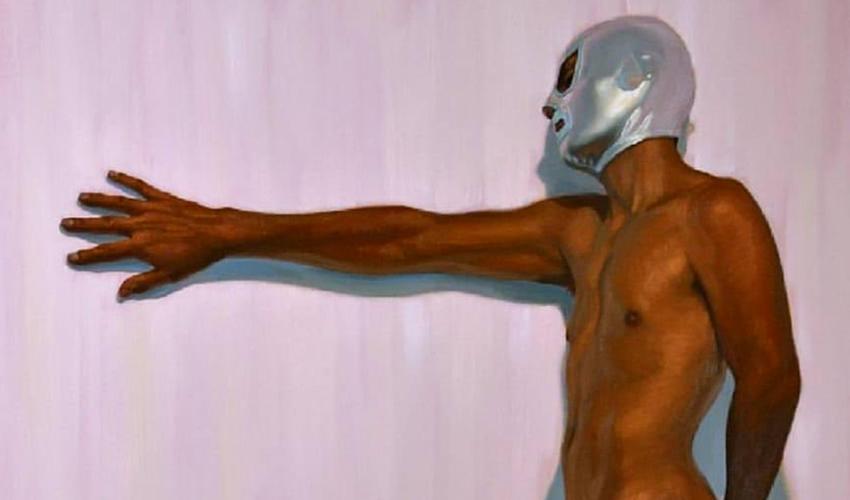 Ahora Hijo del Santo Reclama por Pintura con Máscara de su Padre