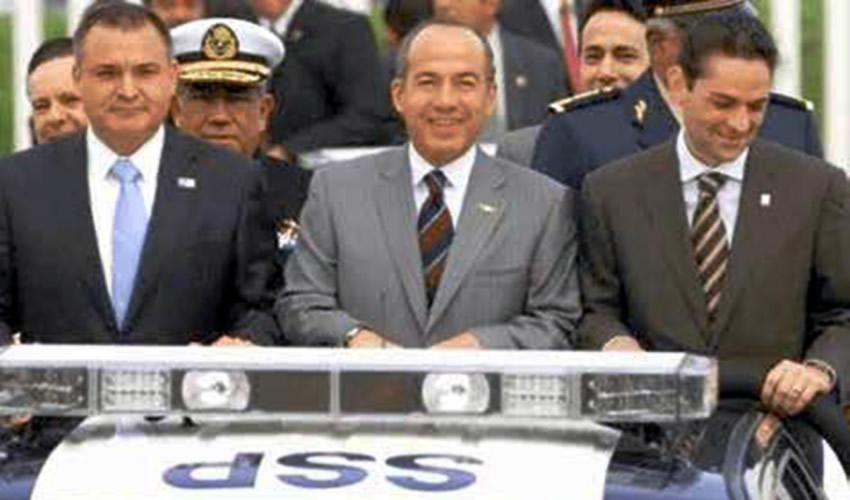 Los años felices: Eduardo Medina Mora, Genaro García Luna, Felipe Calderón Hinojosa y Juan Camilo Mouriño Terrazo