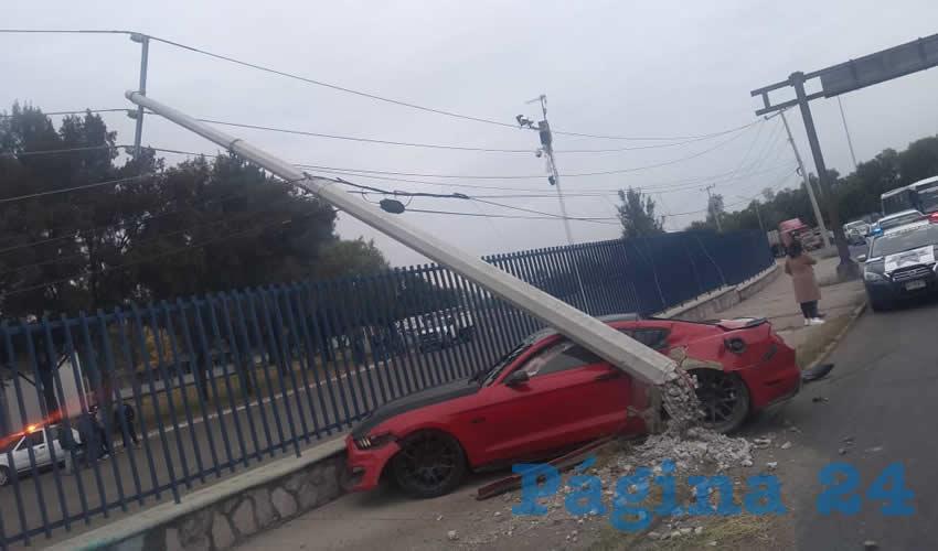 El percance ocurrió en la curva de avenida Aguascalientes, a la altura de la UAA
