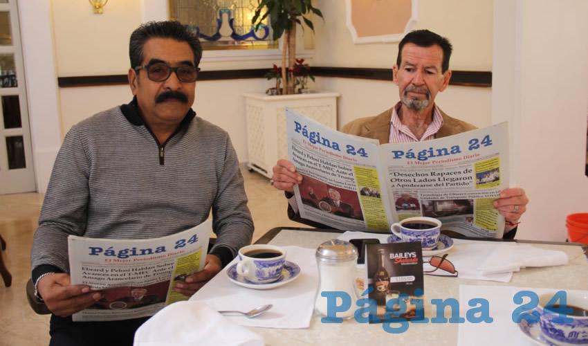 Alejandro Aguilera Guajardo y Jesús Hernández Romo desayunaron en Sanborns Francia