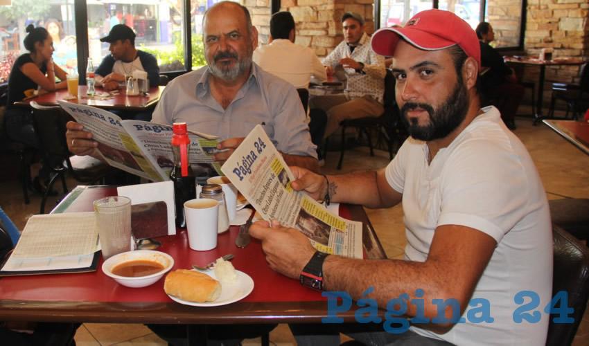 Fernando Morett González y Fernando Morett Aguirre compartieron el pan y la sal en Las Antorchas