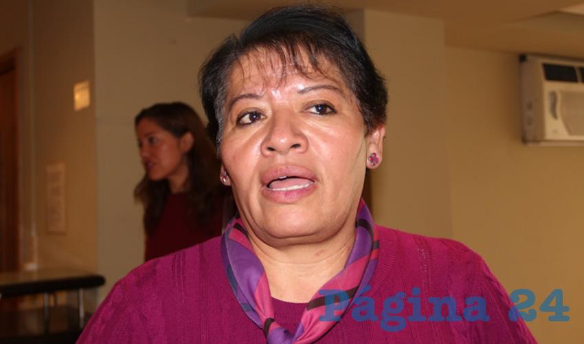 María Luisa Sosa de la Torre, integrante de la Red Plural de Mujeres (Foto Rocío Castro)