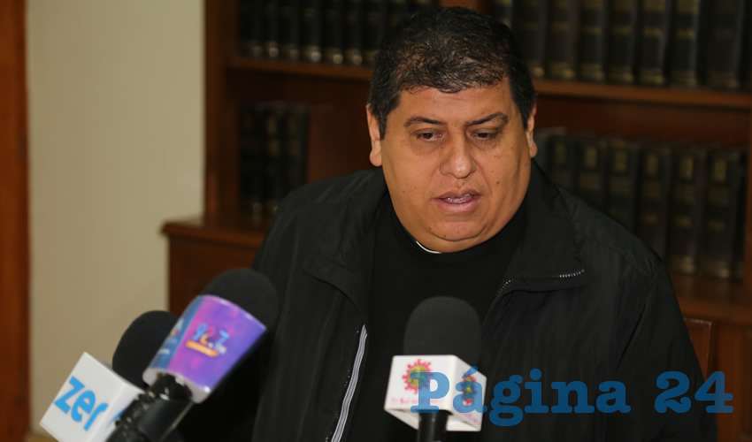 Felipe Gutiérrez Rosales, vocero de la Diócesis de Aguascalientes (Foto: Eddylberto Luévano Santillán)