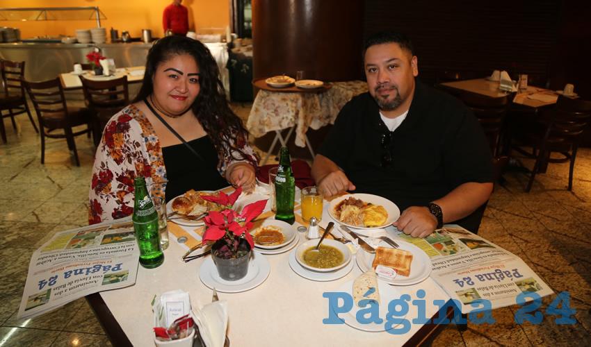 En el restaurante Quality Inn almorzaron Silvia Magallanes y Gregorio Montoya Ramírez