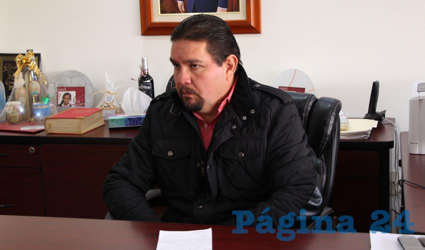 Gustavo Uribe Góngora, presidente del Comité Directivo Estatal del Partido Revolucionario Institucional (PRI) (Foto Rocío Castro Alvarado)