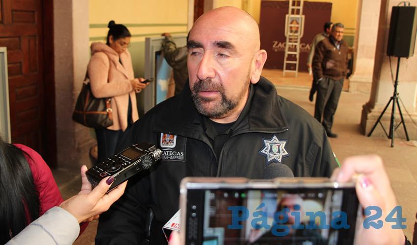 Eduardo Muñoz Franco, director de la corporación de Seguridad Pública Municipal de Zacatecas (Foto Rocío Castro)