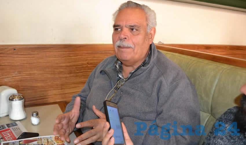 Luis Medina Lizalde, comentó que esta problemática de extorsión que viven los comerciantes tiene más de una década arraigada. (Foto: Merari Martínez)