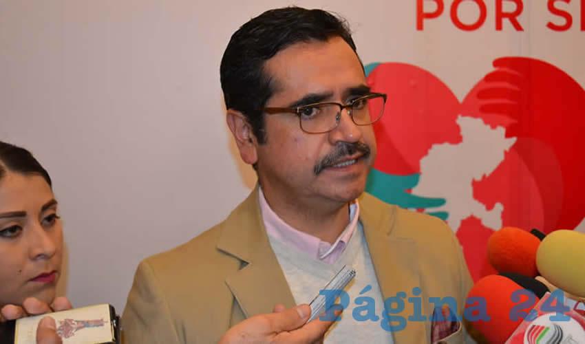 Omar Acuña Ávila, director general del Sistema Estatal para el Desarrollo Integral de la Familia (SEDIF (Foto: Merari Martínez)