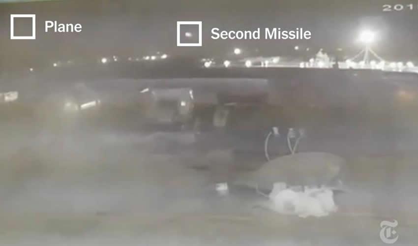 Nuevo Video del NYT Muestra el Impacto de dos Misiles Iraníes Contra el Avión Ucraniano