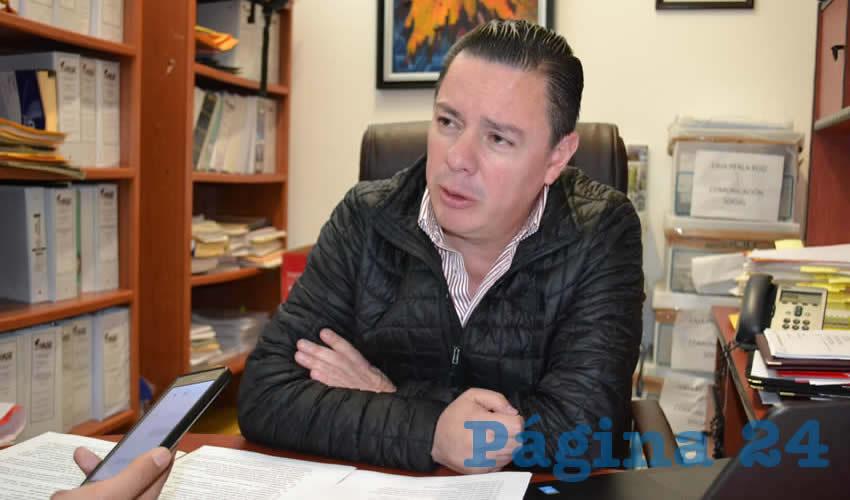 Raúl Brito Berúmen, titular de la Auditoría Superior del Estado (ASE), (Foto Archivo Página 24)
