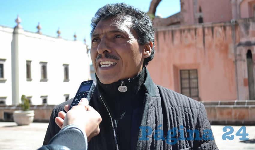 Marcelino Rodarte Hernández, miembro del magisterio disidente (Foto Merari Martínez)