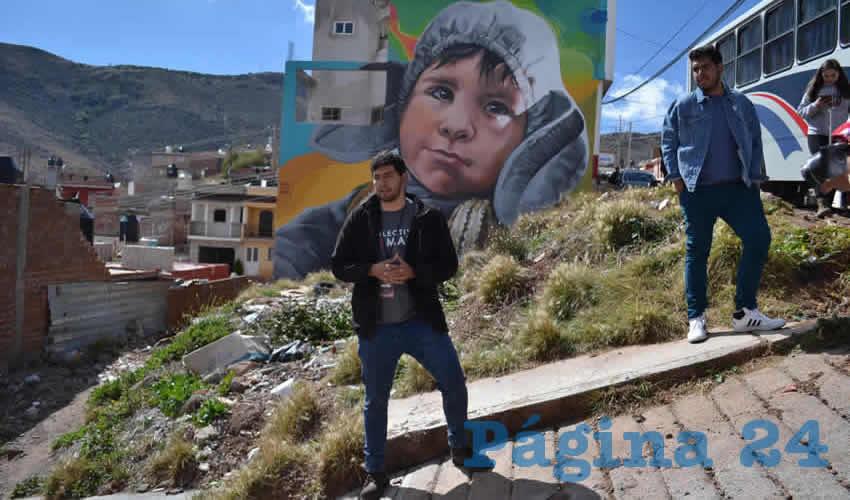Como parte de un proyecto que conjunta a la sociedad civil, los habitantes de las colonias colaboraron con trabajo comunitario y con los diversos murales que fueron pintados en los asentamientos CTM y Gavilanes en Zacatecas, así como en la Abel Dávila en el municipio de Fresnillo (Foto: Merari Martínez)