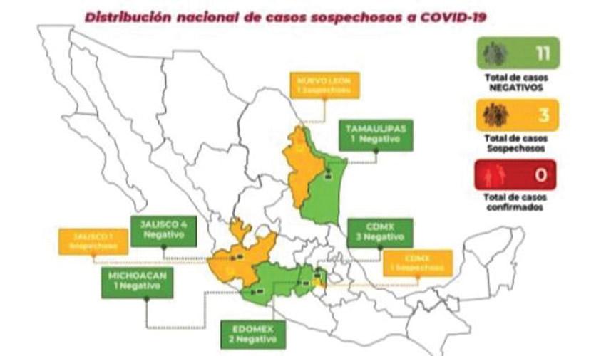 Reporte de la Secretaría de Salud sobre el COVID-19 en México/Imagen: Cortesía