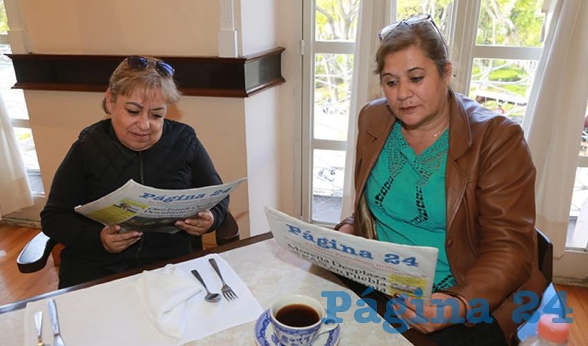 Silvia Díaz Ruvalcaba y Laura de Anda Martínez compartieron el pan y la sal en Sanborns Francia
