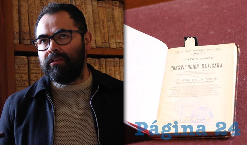Juan Carlos Ochoa Valenzuela, director de la Biblioteca de Colecciones Especiales Elías Amador (Foto Rocío Castro Alvarado)