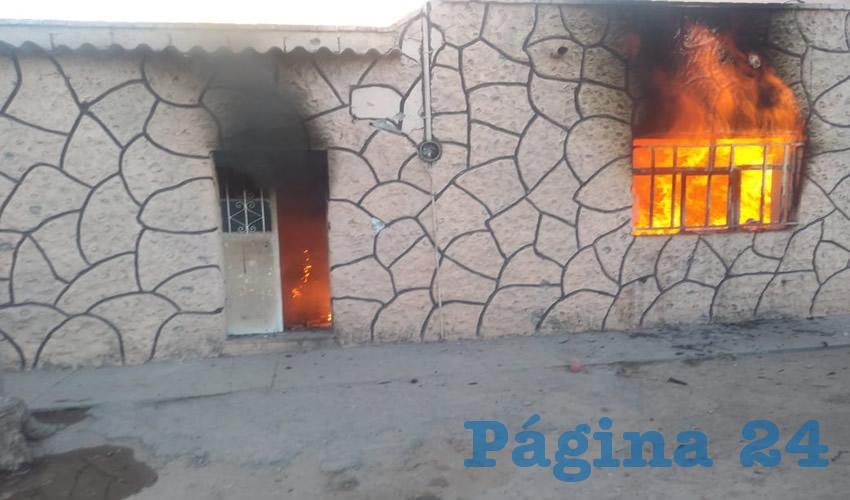 El incendio de la casa