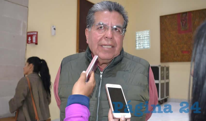 Cuauhtémoc Espinoza Jaime, presidente de la Unión de Colonias Agropecuarias de Zacatecas (Foto Merari Martínez)
