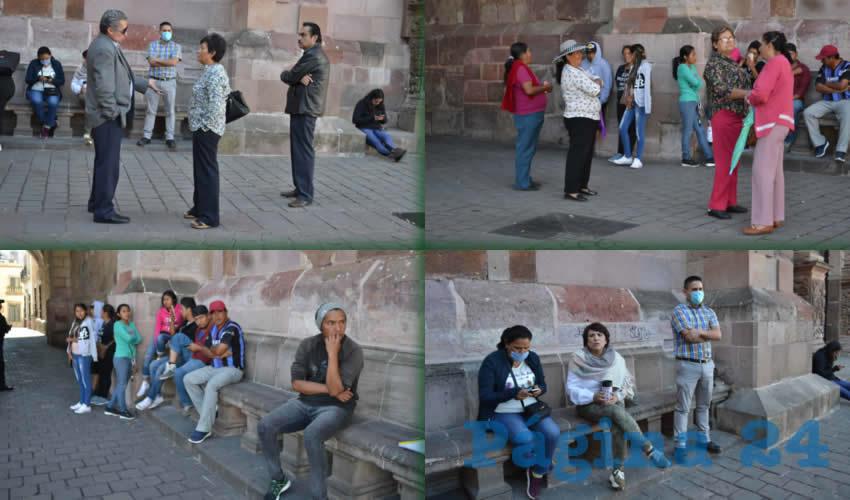 Se congregaron a las afueras de Palacio de Gobierno para manifestarse
