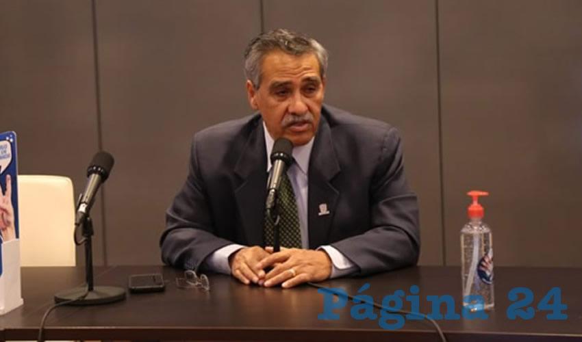 Miguel Ángel Piza Jiménez, secretario de Salud (Foto: Eddylberto Luévano Santillán)