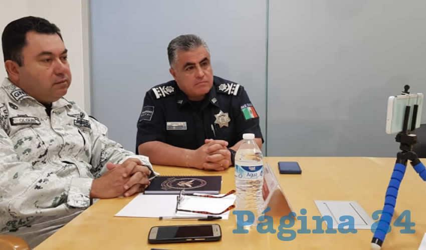 La alcaldesa Tere Jiménez participó en una conferencia virtual con el secretario de Seguridad Pública Municipal y el coordinador estatal de la Guardia