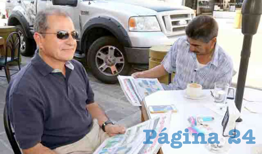 En Café San Antonio departieron César Salas Gómez y José Valenzuela