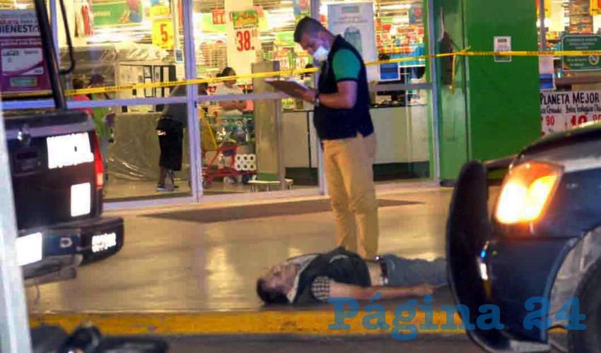 Jesús Emilio Alonso Rangel, de 54 años de edad, perdió la vida luego de que robara mercancía de la tienda de autoservicio situada en calle Guadalupe esquina con avenida Convención poniente