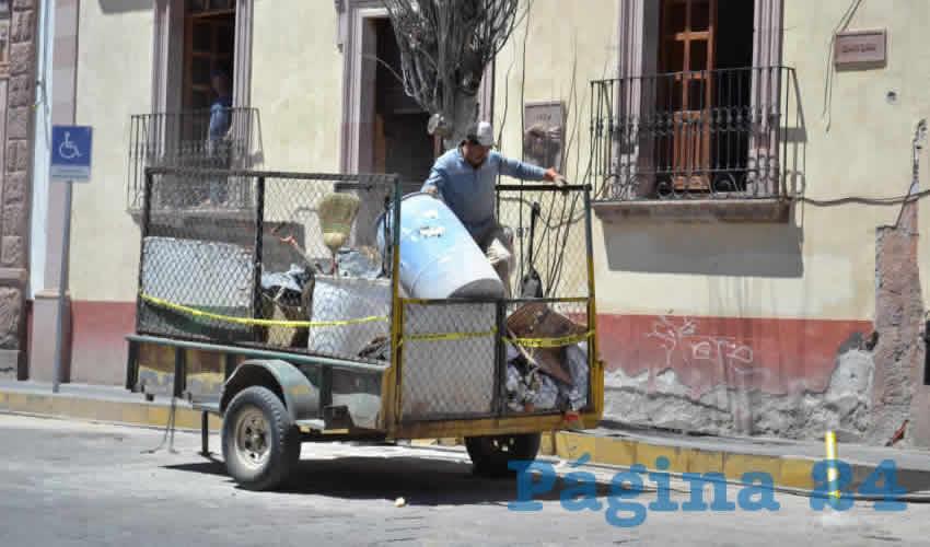 Jaime Cruz Talamantes, jefe del Departamento de Limpia del ayuntamiento de Zacatecas (Foto Merari Martínez)
