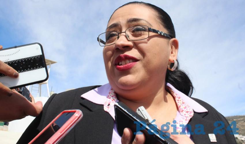 Sandra Durán Vázquez, delegada estatal del Instituto Mexicano del Seguro Social (IMSS) (Foto Cortesía)