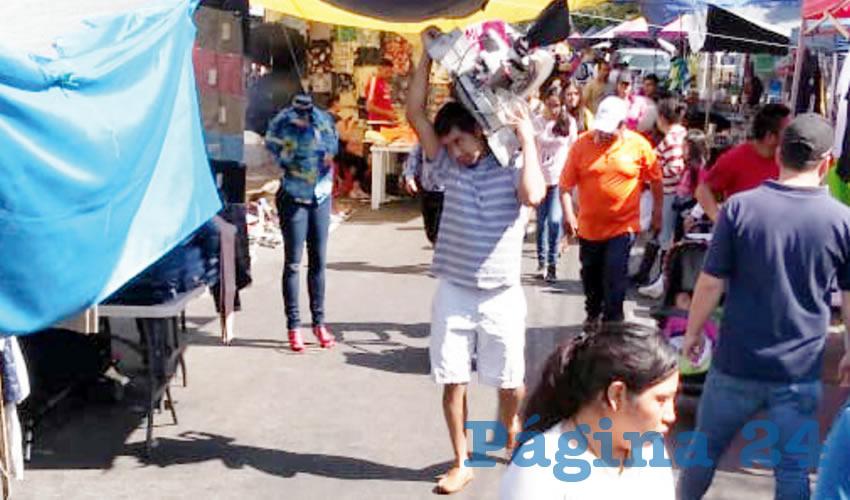 Baja afluencia en tianguis de Zapopan