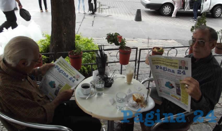 José Fonseca y Luis Muñoz charlaron en Café Catedral