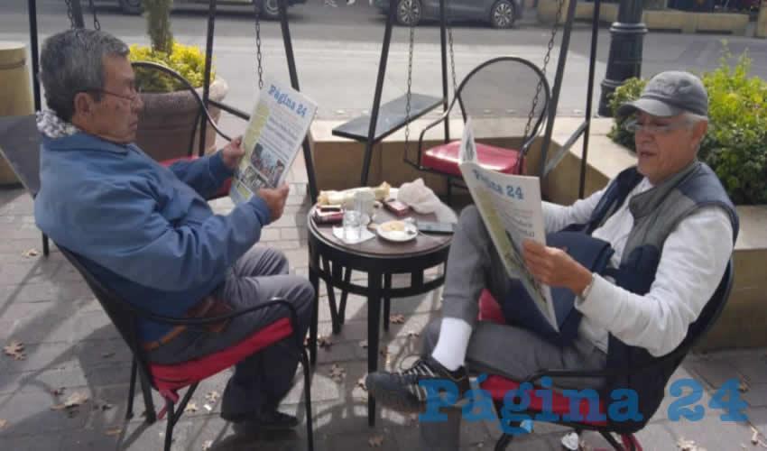 En el restaurante Campo Amor estuvieron Ramiro Pedroza y José Humberto Aceves