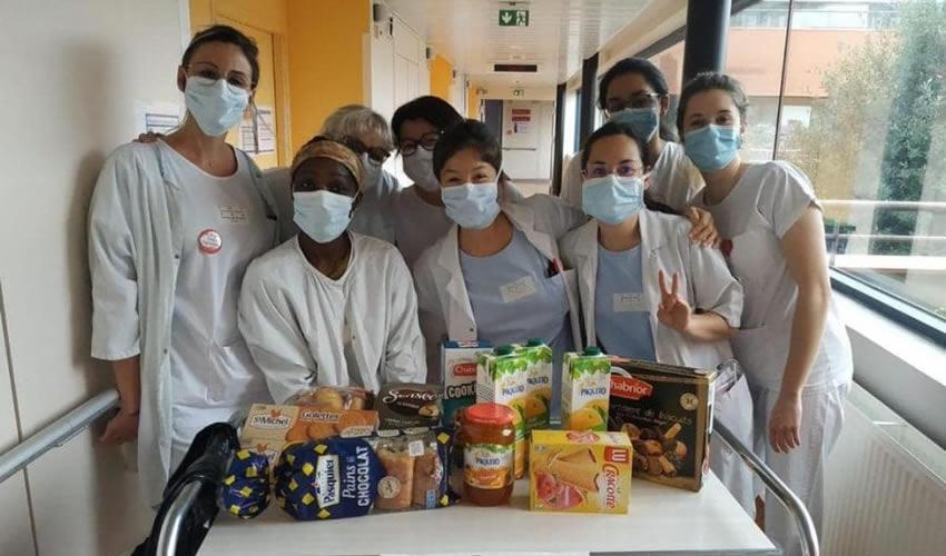 En Francia, las Barras del Fútbol se Solidarizan con los Hospitales