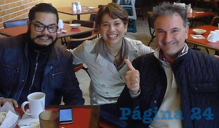Francisco Pedroza, Lucila Hernández y Jorge Pedroza estuvieron en el restaurante Las Antorchas