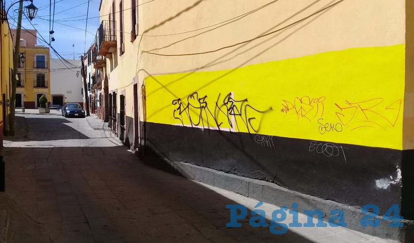 Calles al Centro Histórico son Lienzos Libres Para el Grafitti