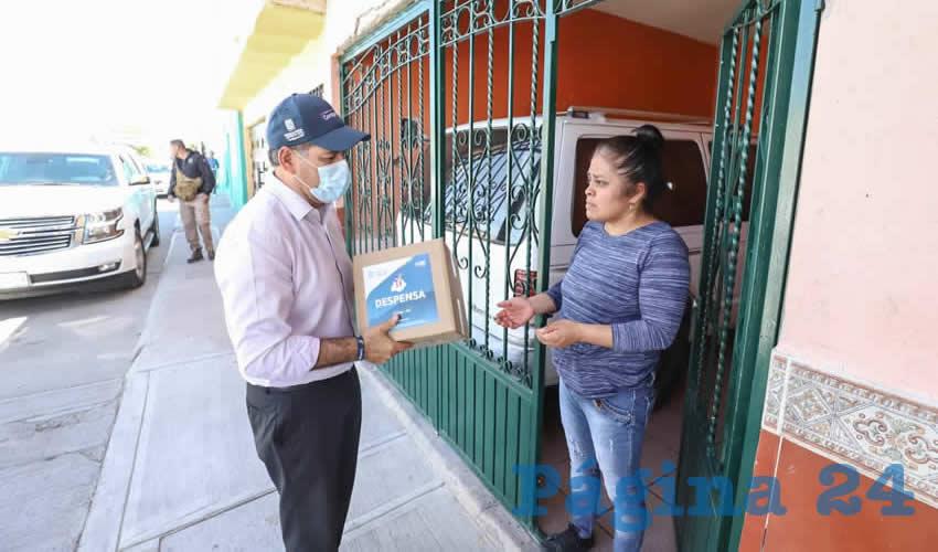 El programa Todos por Aguascalientes brinda ayuda alimentaria a grupos vulnerables mediante de la entrega de 50 mil apoyos alimenticios