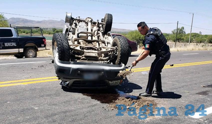 Accidente en la Carretera a Loreto