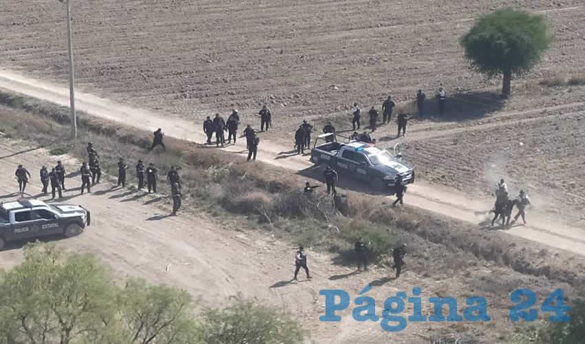 Los maleantes sucumbieron ante la fuerte movilización policiaca