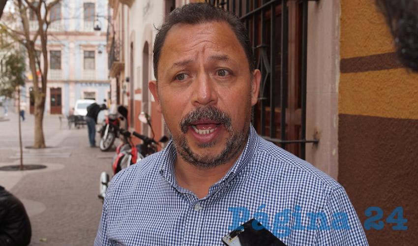 Alejandro Rivera Nieto, líder del Sindicato Independiente de Trabajadores del Estado de Zacatecas (SITEZ). (Foto Archivo Página 24)